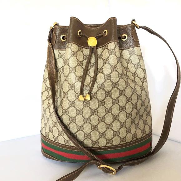 Gucci Handbags - Gucci Vintage GG Supreme Web Bucket Bag